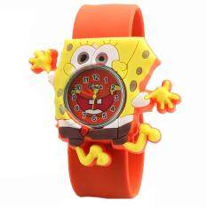 Q Version of the Childrens Tape Multicolor Pat Jelly Color Cute SpongeBob SquarePants Fashion Childrens Cartoon Watch Malaysia