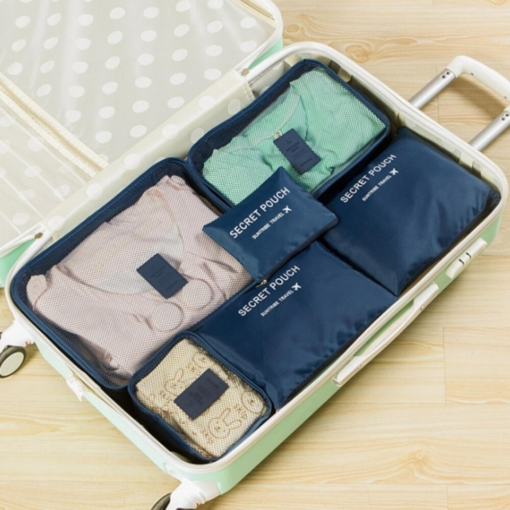 Sell Bsi In Bag Cheapest Best Quality My Store Travel 6 1 Organizer Korean An Multifunction Set Clothes Storage Luggage Greenmyr44 Myr 44