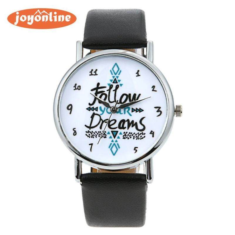 Quote \\\Follow Your Dreams\\\ Men Women Fashion Leather Wrist Watch Malaysia