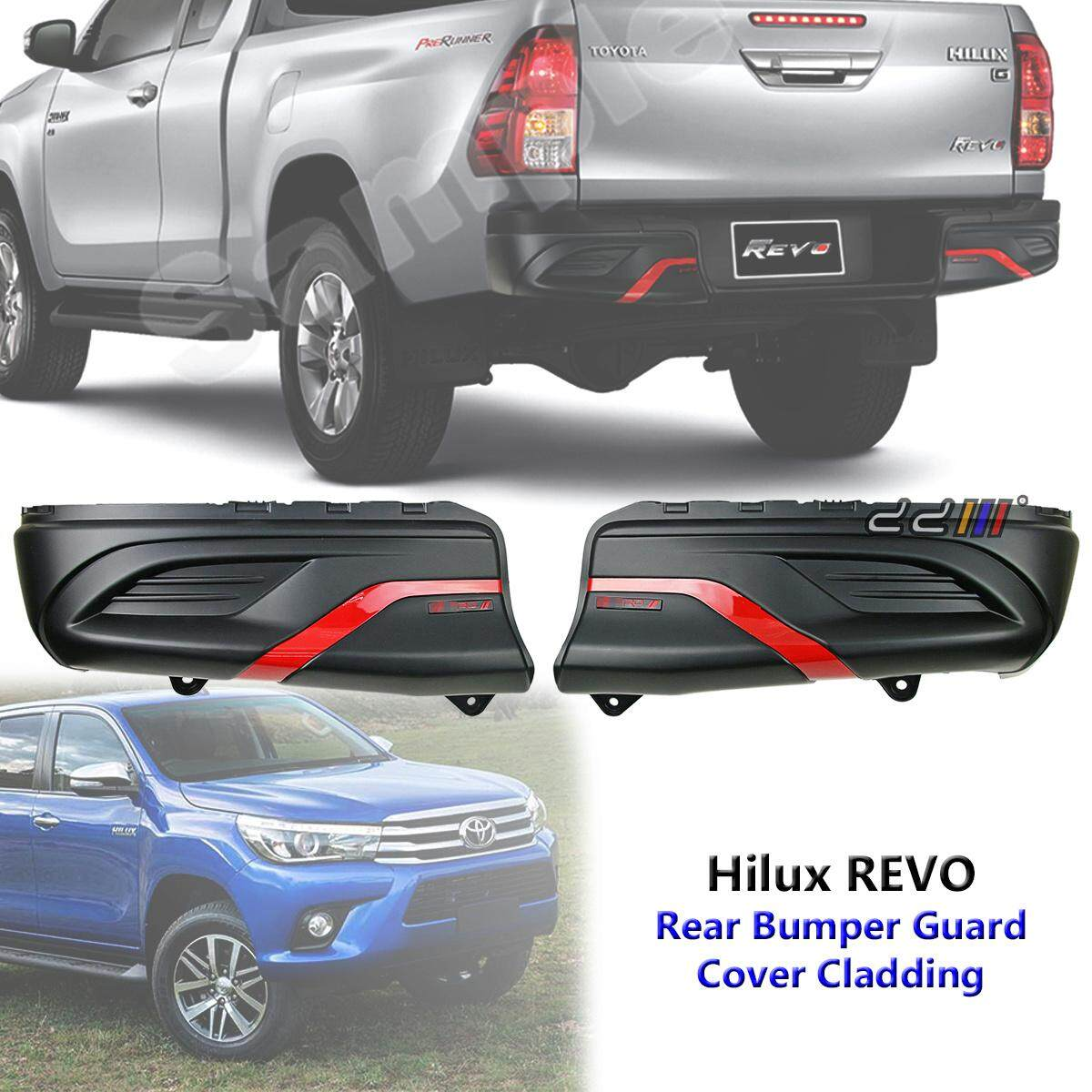 Rear Bumper Guard Cover Cladding Trd Style For Toyota Hilux Revo 2015 2016 2017 By Carpartsmy..