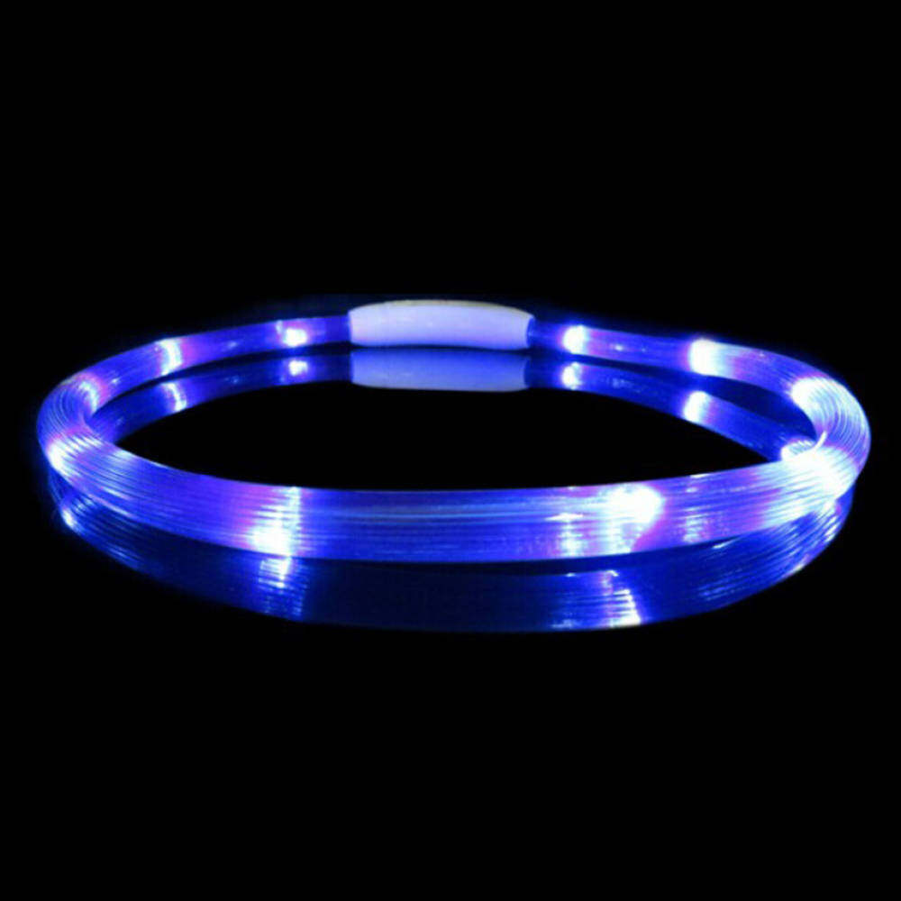 Rechargeable Usb Waterproof Led Flashing Light Band Belt Safety Petcollar Fine Blue By Qjq Store.