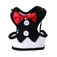 Red Bowtie Tuxedo Dog Harness With Leash Size L By Miss Lan.