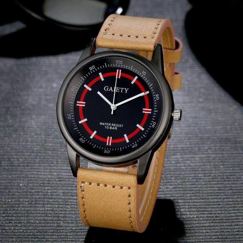 Retro Design Luxury Mens Watch Stainless steel Leather Analog Quartz Watches Malaysia