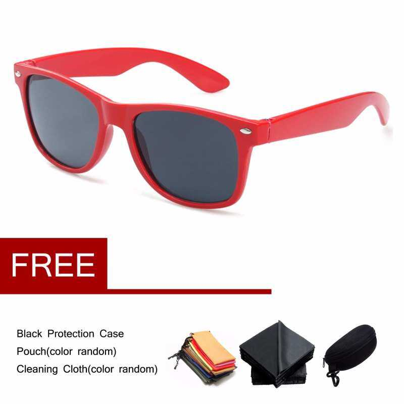 Kmdshxns Retro Pria Wanita Kacamata Hitam Terpolarisasi Outdoor Cermin Fashion Grey Red Kacamata Vintage