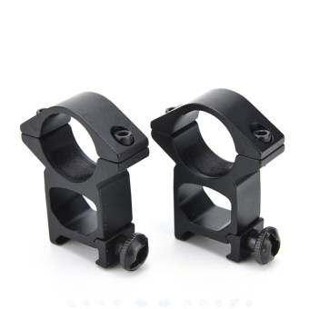 Ring Scope Weaver Rail Mount Set 2pcs 25mm 1 Inch - intl-