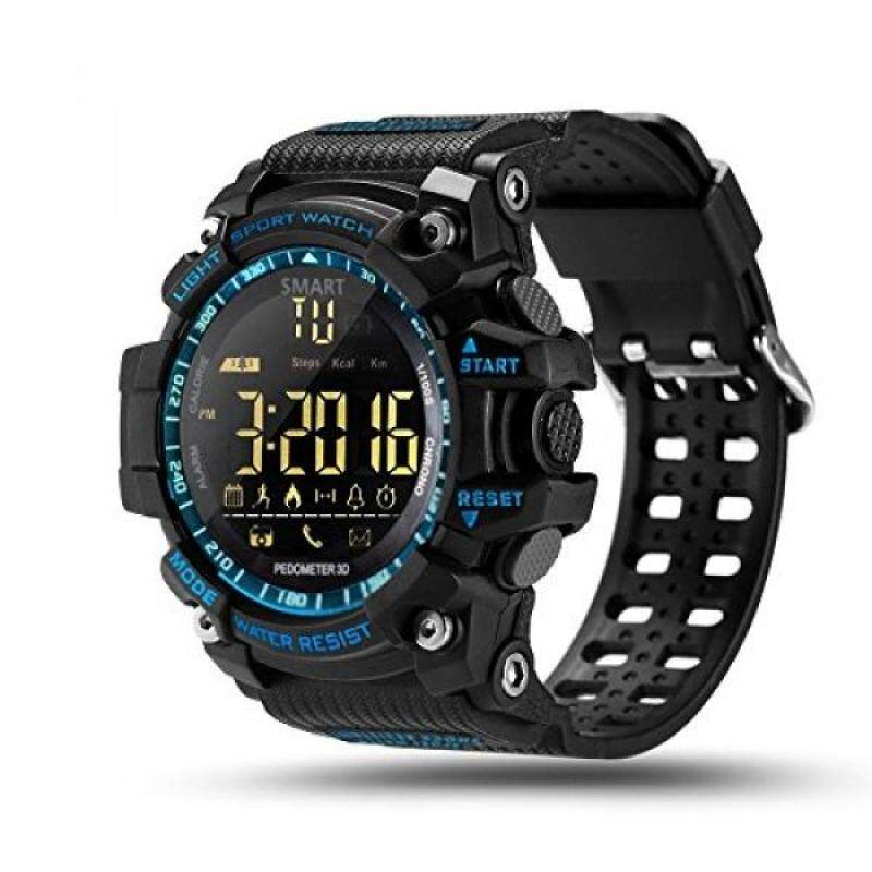 ROADTEC Digital Outdoor Smart Watch,Bluetooth 4.0 Sport Smartwatch 5ATM IP67 Waterproof Support Call SMS Notification Pedometer Remote Camera for IOS Android (Blue) Malaysia