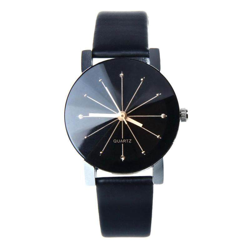 ROJEY-1PC Women Quartz Dial Clock Leather Wrist Watch Round Case Malaysia