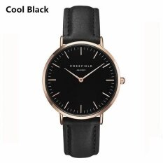 Watch Golden Genuine Leather Quartz Movement Water Resistant 3atm Watch Women Dress Men Sports Famous Brand Watch Cool Black By Five Star Store.