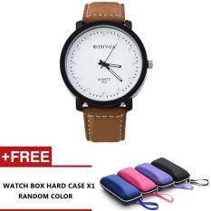 ROSIV design Fashion Leather Strap Casual Classic leather unisex watch - Style B Malaysia