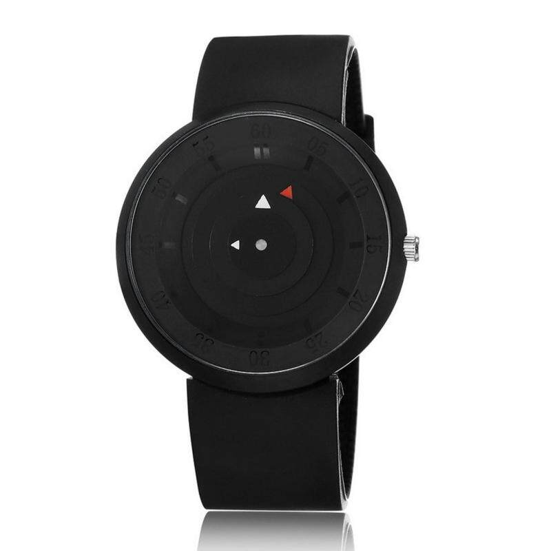 Rotura Design Unisex Silicone Fashion Casual Wristwatch(Black) Malaysia