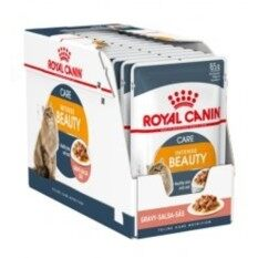 Royal Canin Intense Beauty Gravy Cat Wet Pouch 85g X 12 By One Stop Petz Centre.