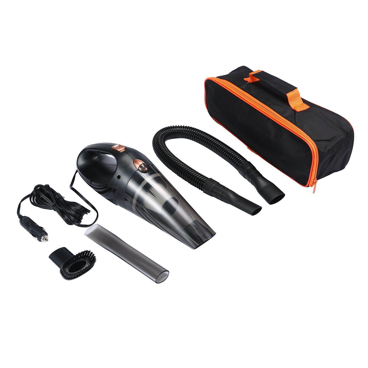 ruixiang Car Vacuum Cleaner, Handheld Wet/Dry Auto Vacuum Cleaner DC 12V106W With Storage