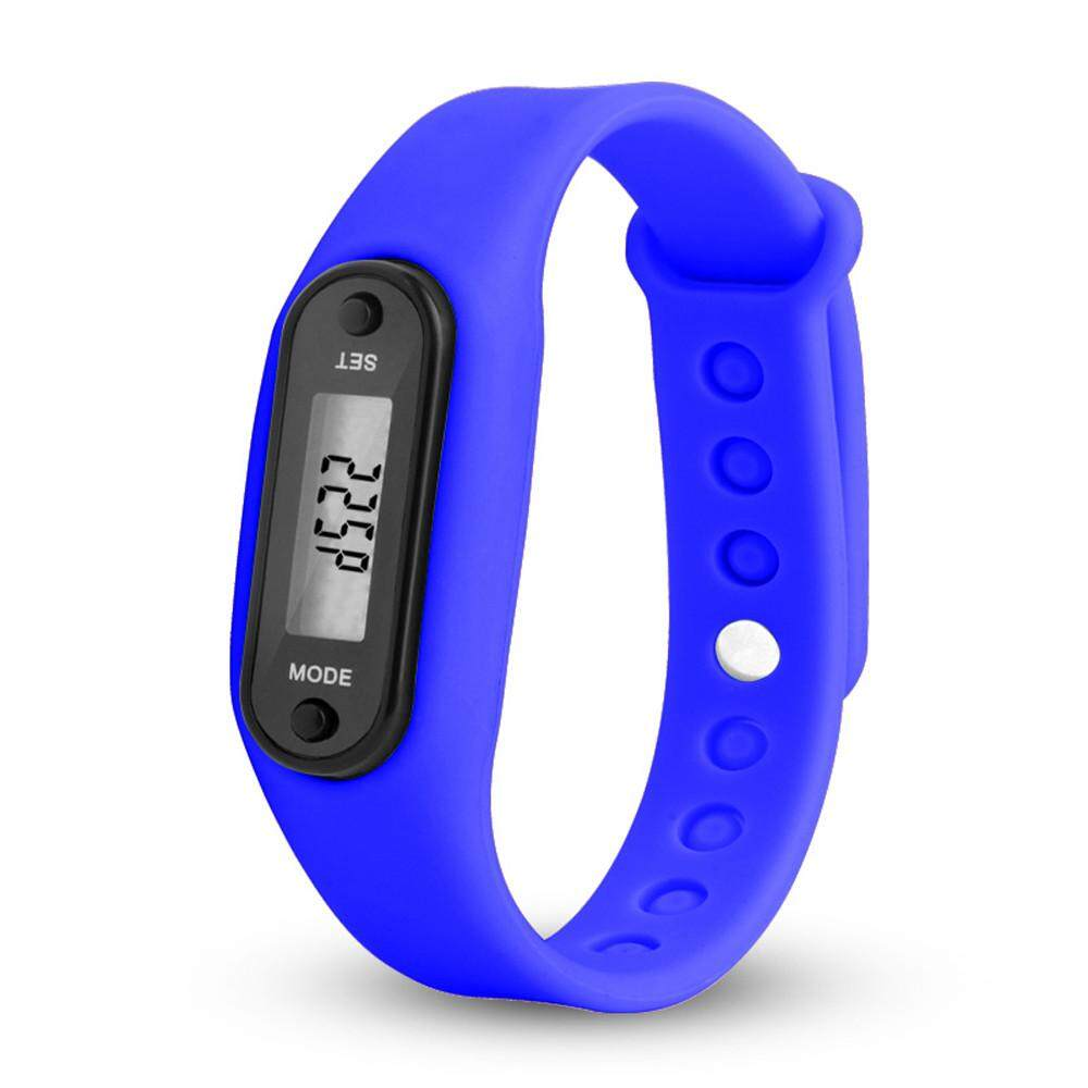 Menjalankan Langkah Gelang Jam Pedometer Penghitung Kalori Digital LCD Berjalan Kaki-Intl