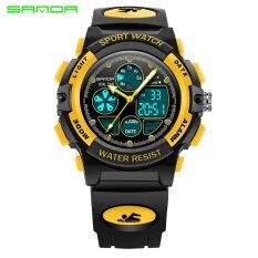 SANDA Brand Watch Kids Alarm Clock Children Sports Watches LED Digital Quartz Military Boy Girl Student Multifunctional Wristwatches 116 Malaysia