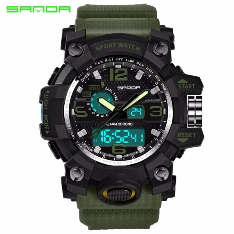 SANDA Sports Watch Men Top Brand Luxury LED S-Shock Digital Military Watch Malaysia