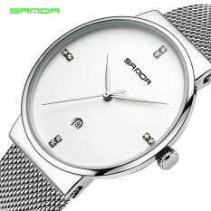 Sanda Watch Men Date Quartz Watch Stainless Steel Mesh Strap Ultra Thin Dial Clock with Date Watch Malaysia