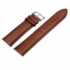 Sanwood® Unisex Fashion Faux Leather Universal Watch Strap Band Replacement Wristband 18mm (Brown) Malaysia