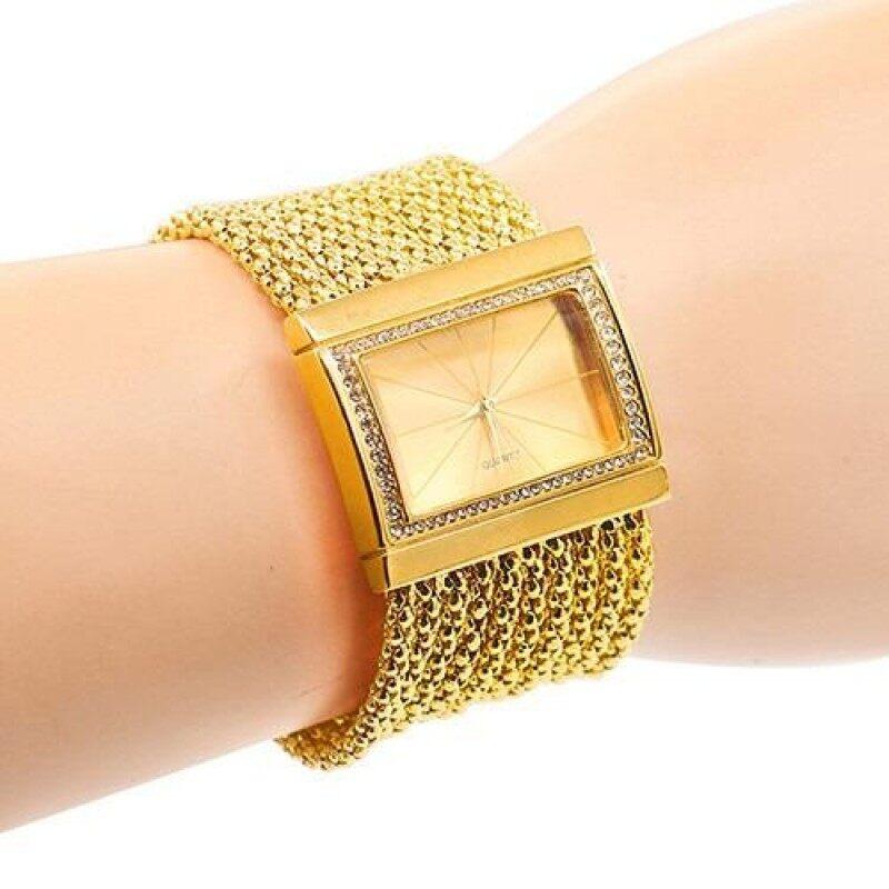 Sanwood@Women Multi-layer Beads Analog Quartz Alloy Band Bracelet Wrist Watch Malaysia