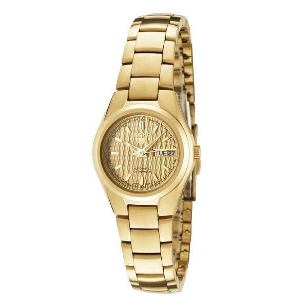 Seiko 5 SYMC18K1 Automatic 21 Jewels Ladies Gold Tone Stainless Steel Watch (Gold) Malaysia