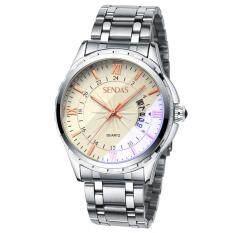SENDA Brand Mens Tungsten Steel Strap Waterproof Sport Wrist Watch Malaysia