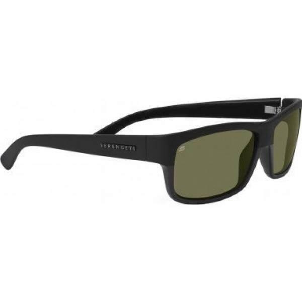 Serengeti Adult Martino Polarized Sunglasses, Shiny/Matte Black, 555nm, One Size - intl
