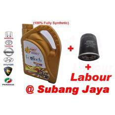 Service Package 100% Fully Synthetic - Ecotech 5w-40 Sn (with Labour) By Onlinetires2u.