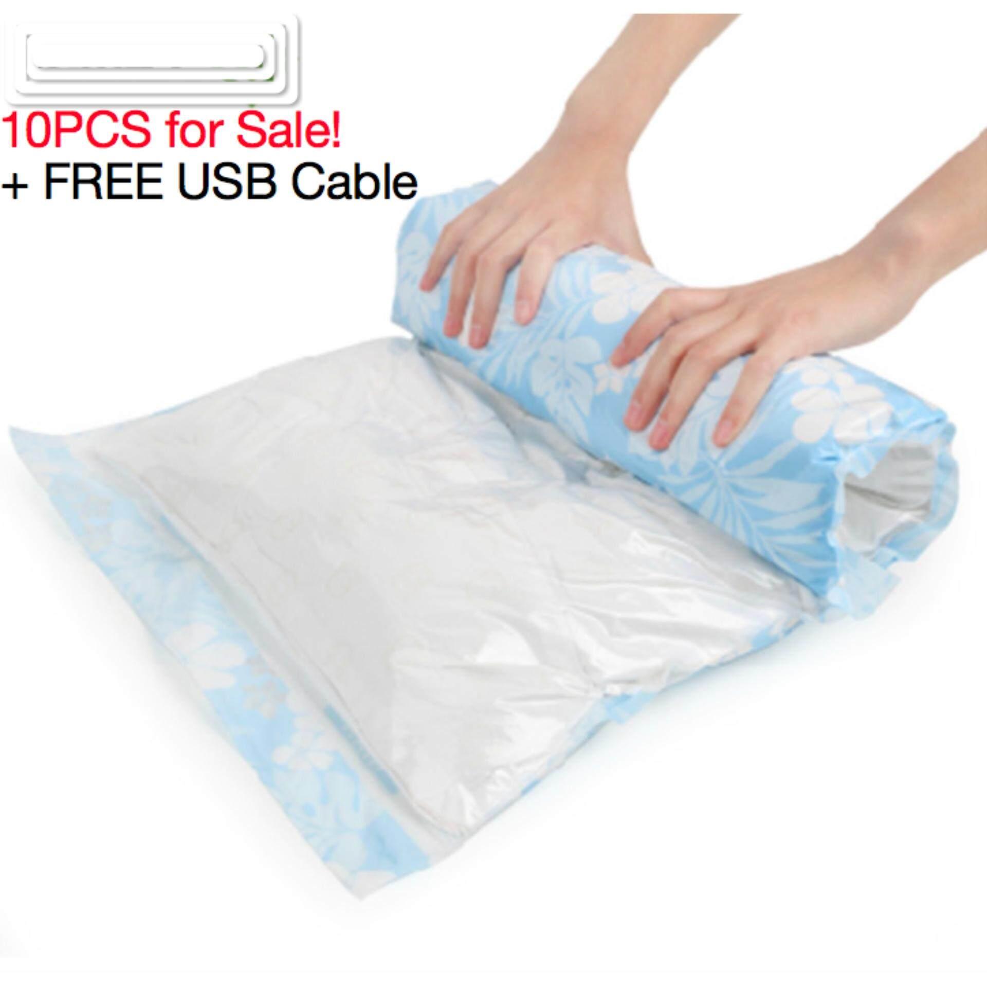 Compression Bag For Sale Sack Online Brands Prices Hand Rolling Compressed Set Of 10 Handroll Vacuum Storage Bags Blue Intl