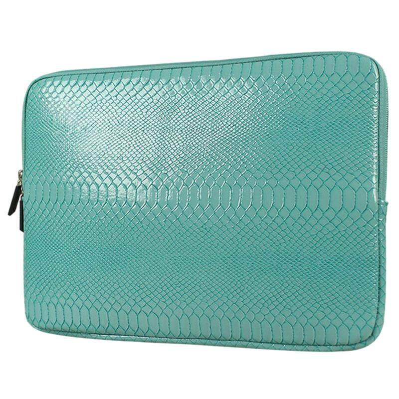 SHENG BEI ER Snake Skin Leather Sleeve Case 12 inch Laptop Bag,For MacBook Notebook Case Air Pro(Green) - intl