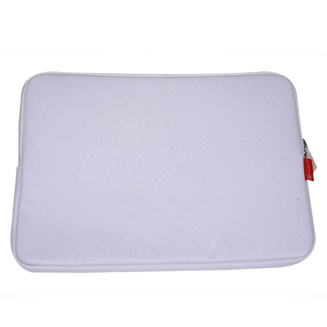 Sheng Bei Er Ular Kulit Lengan Kasus 14 Inch Tas Laptop, untuk Buku Catatan Macbook Udara Pro (Putih)-Internasional