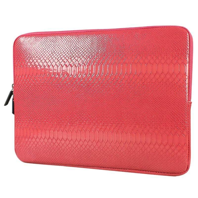SHENG BEI ER Snake Skin Leather Sleeve Case 15 inch Laptop Bag,For MacBook Notebook Case Air Pro(Red) - intl
