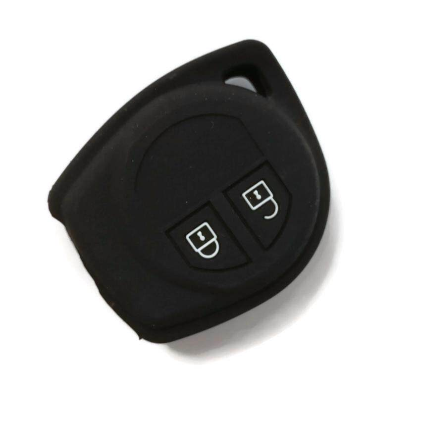 Silicone Car Key Cover Case Compatible with Proton Ertiga (Black)