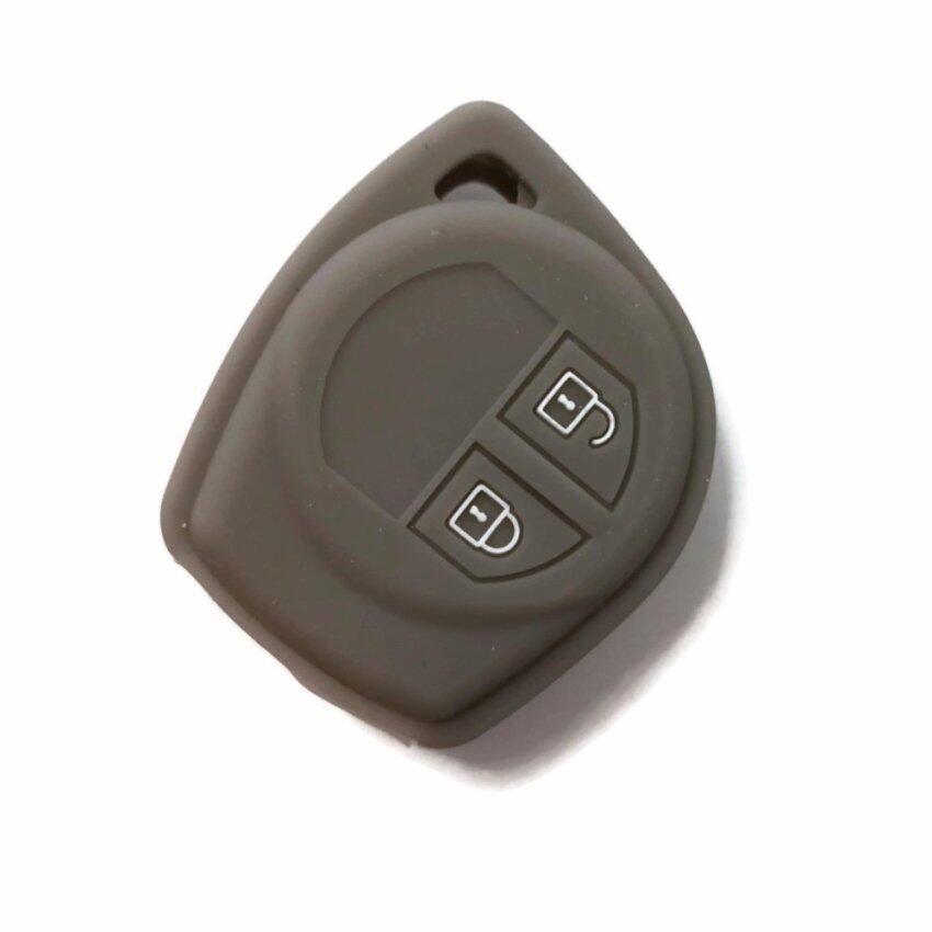 Silicone Car Key Cover Case Compatible with Proton Ertiga (Grey)