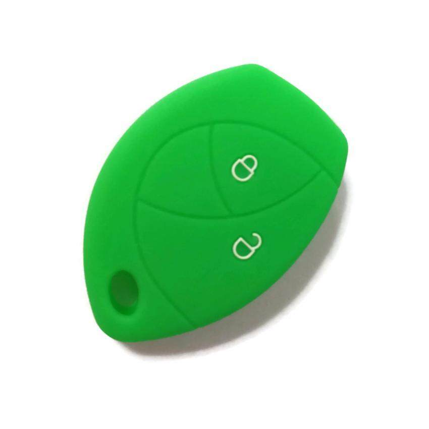 Silicone Car Key Cover Case Compatible with Toyota Hilux Vigo Innova Fortuner (Green)