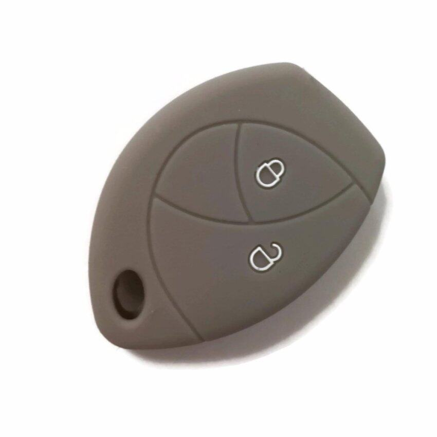 Silicone Car Key Cover Case Compatible with Toyota Hilux Vigo Innova Fortuner (Grey)