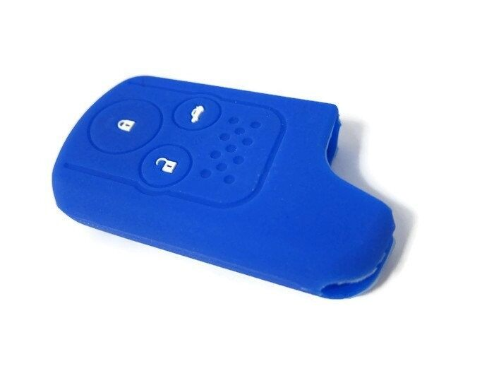 Silicone Key Cover Case Compatible with Honda Civic FB 1.8 2.0 Hybrid (Blue)