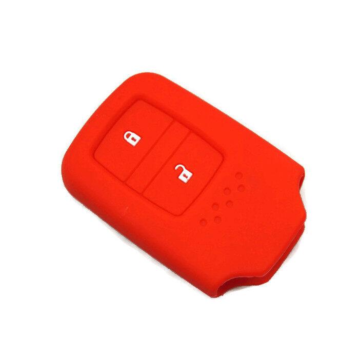 Honda HRV Jazz CRV BRV 2014-2018 Keyless Remote silicone Car Key Cover Case (Red)