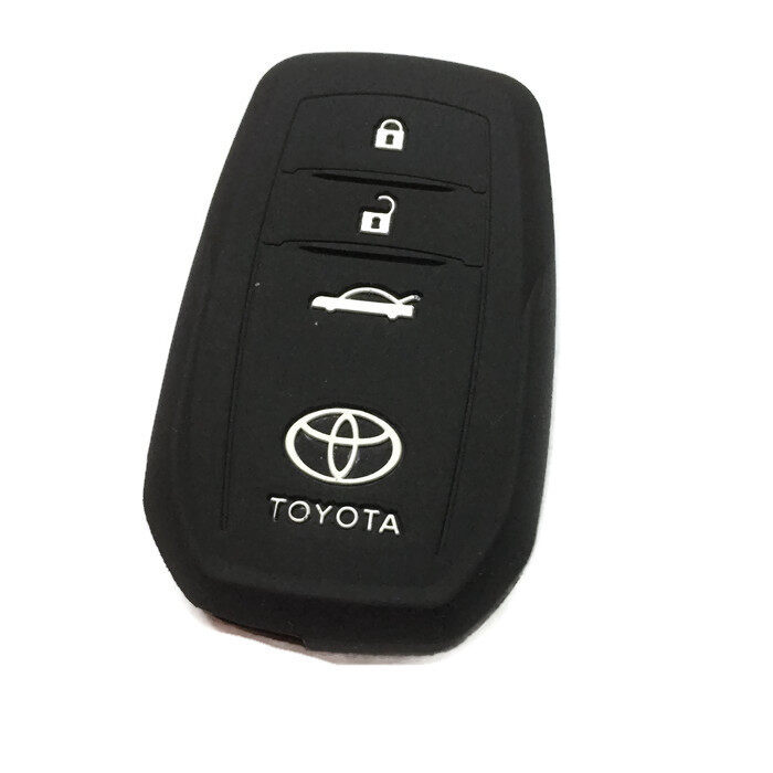 Toyota Camry & Fortuner Keyless Remote Silicone Car Key Cover Case (Black)