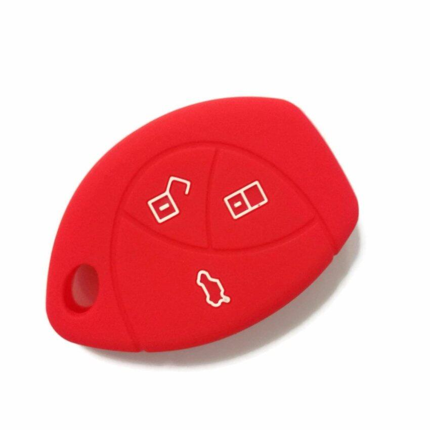 Toyota Vios 2002-2007 Silicone Car Key Remote Cover Case (Red)