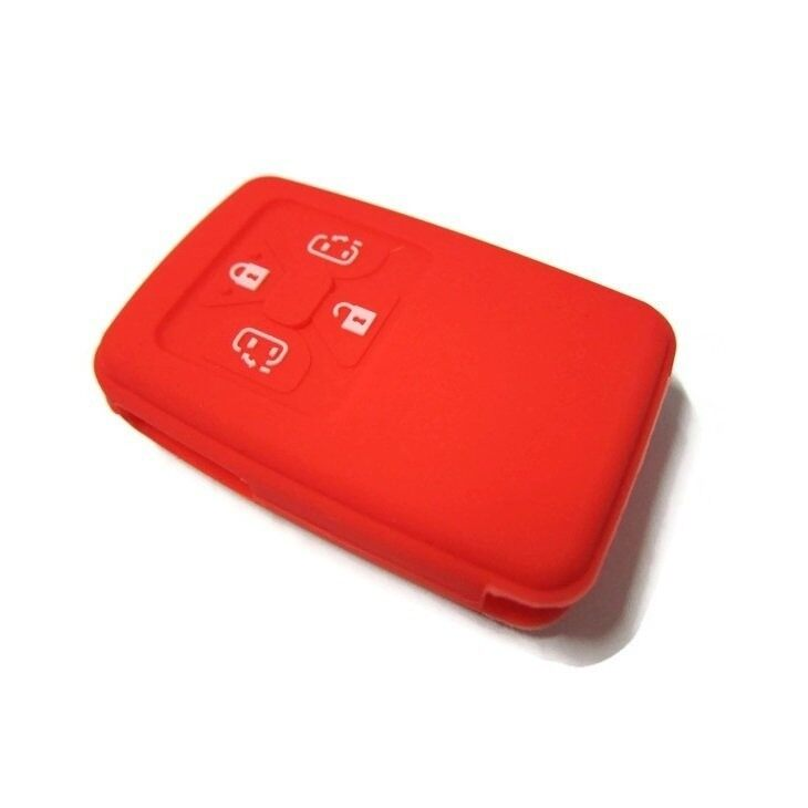 Silicone Key Cover Case for Toyota Alphard & Vellfire & Estima with 4 buttons Remote  (Red)