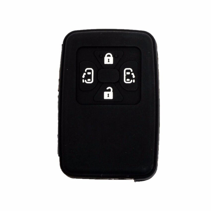 Silicone Key Cover Case for Toyota Alphard & Vellfire & Estima with 4 buttons Remote (Black)