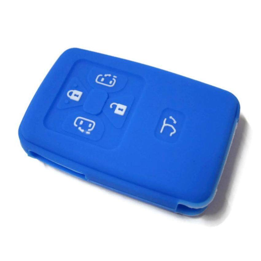 Silicone Key Cover For Toyota Alphard Vellfire & Estima With 5 Buttons Remote (Blue)