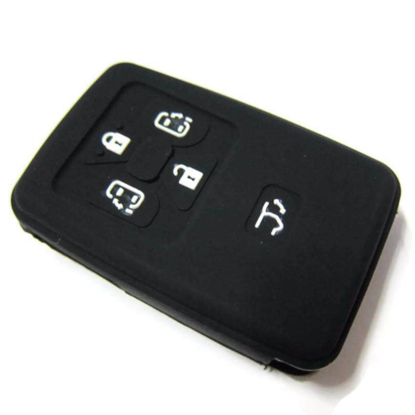 Silicone Key Cover For Toyota Alphard Vellfire & Estima With 5 Buttons Remote (Black)