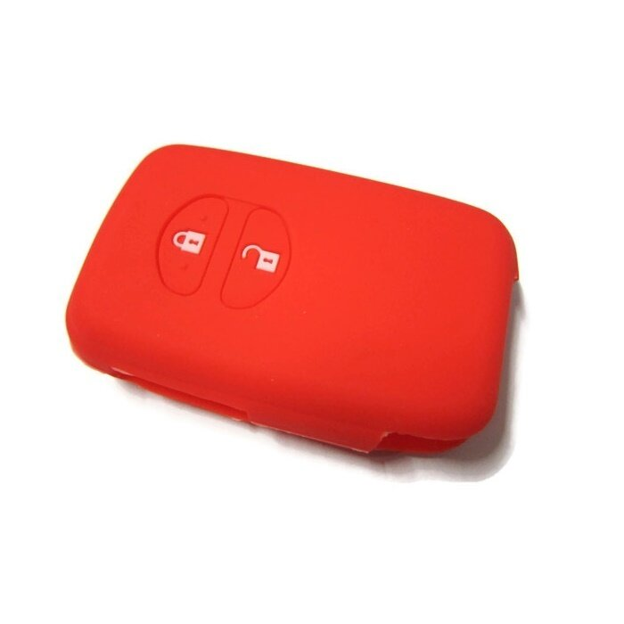 Silicone Remote Car Key Cover for Toyota Wish or Prius Keyless Remote (Red)