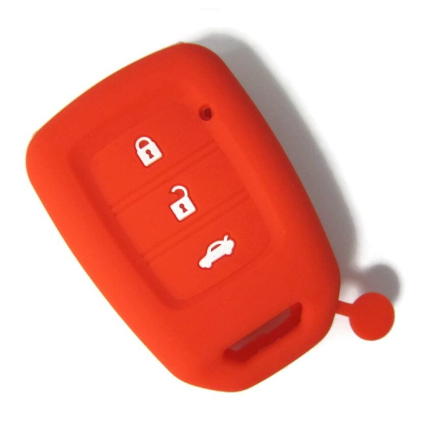 Silicone Remote Key Cover Compatible with Honda City 2014-2018 Key Start Remote (Red)