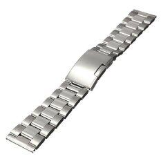 Silver Stainless Steel Watch Band Strap Straight End Bracelet Link 20mm Malaysia
