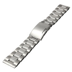 Silver Stainless Steel Watch Band Strap Straight End Bracelet Link 20mm (Silver) Malaysia