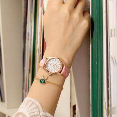 Simple fashion belt middle luminous fashion leisure ladies watch waterproof Malaysia