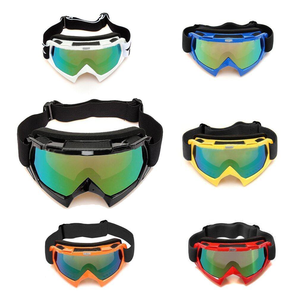 Lensa Tunggal Motocross Mati-Jalan ATV Kotoran Sepeda Motor Ski Kacamata Olahraga Kacamata Hitam-