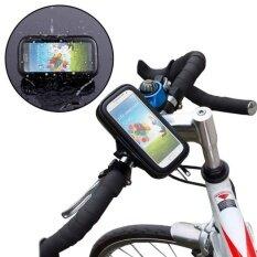 Ukuran XL Sepeda Motor Dukungan Telepon Genggam iPhone 5/6 Navigasi Tahan Air Sentuh Paket