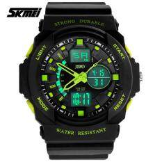 SKMEI 0955 Mens LED Analog Digital Alarm Sport Watch (Blue) Malaysia